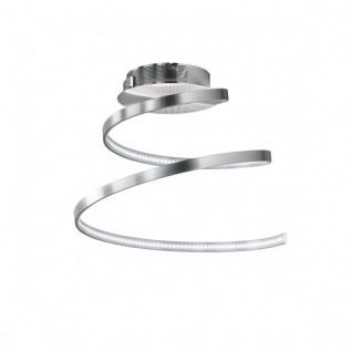 Wofi LED Deckenleuchte Laval 1 flammig Deckenlampe Nickel Matt Spirale