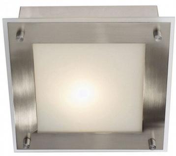 Wandleuchte Deckenleuchte satiniertes Glas Metall Silber 18 x 18 x 7, 5cm