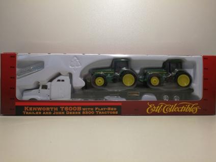 Ertl Kenworth T600B Truck & Trailer JOHN DEERE Traktoren 1:87 HO Zug