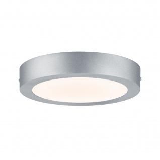 Runde LED Deckenleuchte Panel Chrom Matt Durchmesser 22cm 1520lm Alu