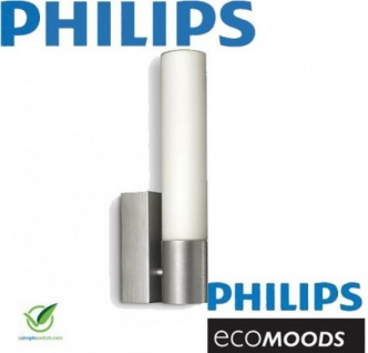 Wandleuchte Philips Ecomoods Energiesparleuchte Aluminium Glas