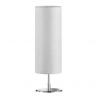 Honsel Tischleuchte Fun Stoff Weiss Schalter Tischlampe LED tauglich