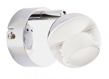LED Wandleuchte Deckenleuchte 5W/230V Chrom Metall 358lm 3000K 8x10, 4x13cm