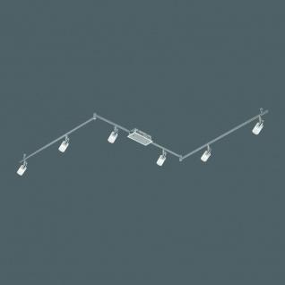 Fischer Deckenleuchte LED Nickel matt Chrom Spotleiste Schwenkbar Strahler Spot