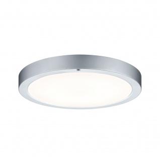 Runde LED Deckenleuchte Panel Chrom Matt Durchmesser 36cm Fernbedienung Alu