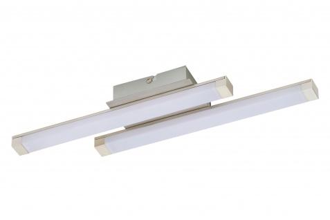 LED Deckenleuchte Silber 2 Flammig 1000lm 10W Warmweiss