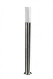 Aalborg Wegeleuchte E27 max. 14W/230V Edelstahl Energiesparleuchte Silber 80cm