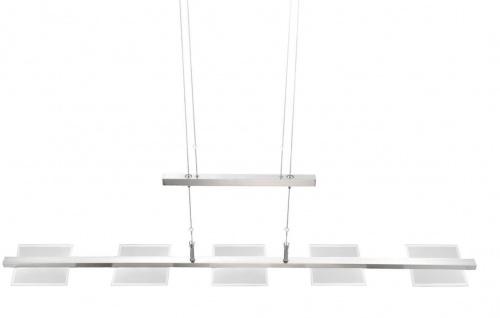 LED Pendelleuchte Höhenverstellbar Nickel Dimmbar 3000 Lumen