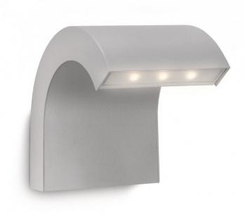 Philips Ledino Power-LED Wandaussenleuchte Aluminium grau