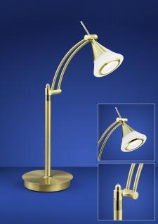 Deutsche LED Tischleuchte mit Tastdimmer 9W 900 Lumen Schwenkbar 3000K 38x50cm