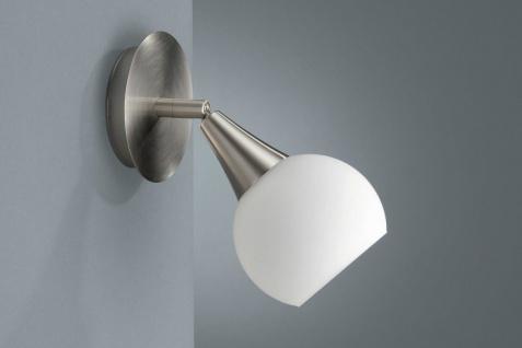 Energiespar Wandspot Spot Strahler Wandleuchte Silber Glas