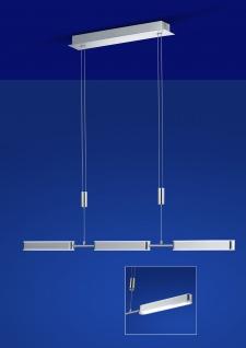 Dimmbare höhenverstellbare matte LED Pendelleuchte in Nickel 2700 Lumen