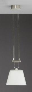 Bankamp Leuchten 2845/1.92 Pendelleuchte Vega Nickel matt mit Chrom abgesetzt 1 x 12 V/60 W. ES Halogen-Stift Gy 6.35 Niedervolt
