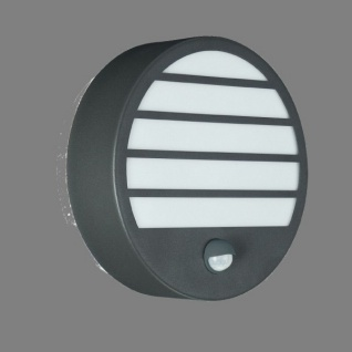 Massive 16315/93/10 Linz 1 x 18 Watt 230 V Stainless Steel Wall Lantern. Antracit