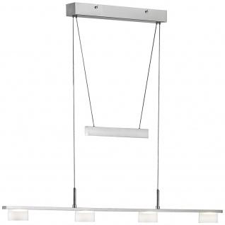 Honsel LED Pendelleuchte Mattnickel Metall Glas Höhenverstellbar 4x4, 5W 1880lm