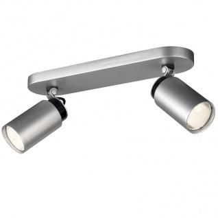 Philips Energiespar Spotbalken 2x GU10 Aluminium Schwenkbar 30cm gebürstet