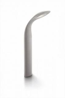 PHILIPS Ledino Sockelleuchte LED Grau IP44 Aluminium 7, 5W