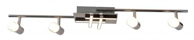 LED Deckenleuchte Chrom Metall 8-flammig 27W 2200lm 3000K Warmweiß 90x19x11cm