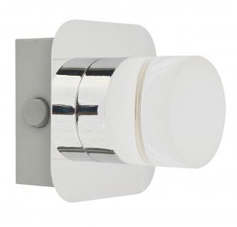 LED Wandleuchte Deckenleuchte 5W/230V Chrom Metall 359lm Warmweiß 10x10cm