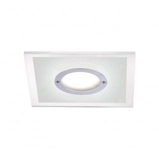 LED Einbauleuchte Chrom 4 - Stufen Dimmbar IP44 Spritzwasser geschützt 350lm Eckig