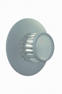 Halogen Wandaussenleuchte Hampshire G9 230V Facetten IP44 Aluminium Grau