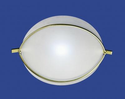 Deutsche Deckenleuchte Messing Halogen Glas Ø 55cm Rund