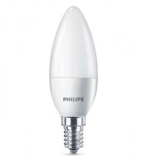 Philips LED Leuchtmittel Kerze E14 Kerzenform 5, 5W Warmweiß Glühbirne