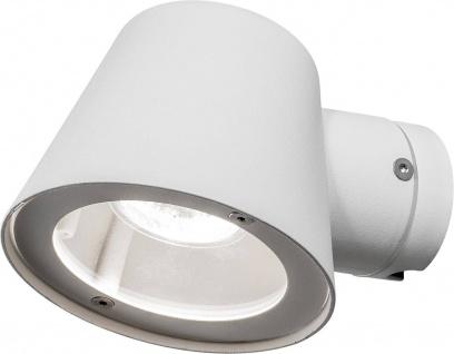 Halogen Wandaussenleuchte Weiß IP44 Aussenleuchte Aluminium