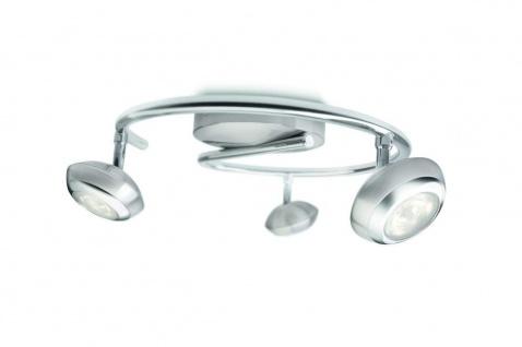 Philips LED-3er Deckenspot, 3x4 Watt, silbern