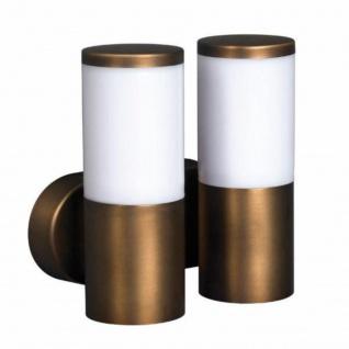Massive Energiespar Wandaussenleuchte Mindelo 2x E27 Metall Braun