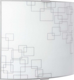 Wandleuchte Wandlampe 25 x 24, 8cm Grau Glas 1 Flg.hte
