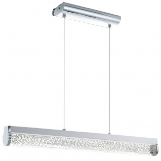 LED Pendelleuchte Chrom Glas Drahtgeflecht 24W 1680 Lumen Hängeleuchte