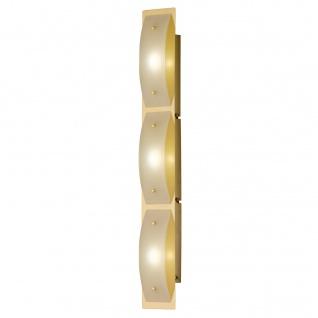 Wandleuchte Liana Messing 3 Flammig Glas LED Schalter