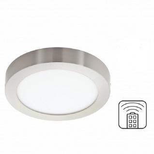 LED Deckenleuchte 3000 - 6500K Fernbedienung Dimmbar Nickel 2200lm Ø 37, 5cm