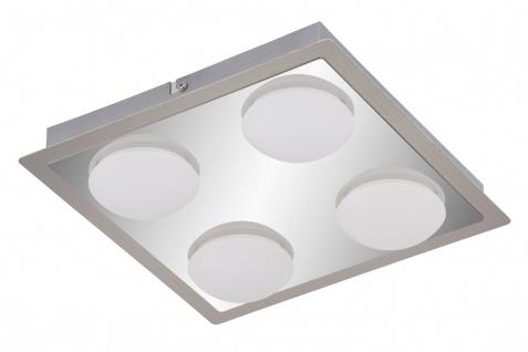 LED Badleuchte Deckenleuchte Chrom Matt Nickel 4x4, 5W 3000K 1600lm 28x28x5, 8cm