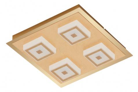 LED Wandleuchte Deckenleuchte 4 Flammig Gold Metall 1600lm Warmweiß 28 x 28x 5, 4cm
