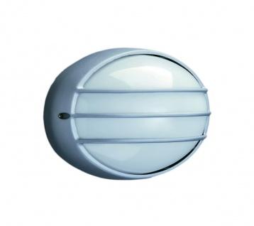 Massive Halogen Wandaussenleuchte Bradford Grau Aluminium IP44 E27 LED geeignet