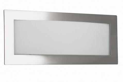 Wandleuchte Halogen Stahl gebürstet Glas Dimmbar 30cm breit