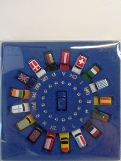 Rover Austin MINI EURO-Set 18 Autos Flags Limited Edition M1:160