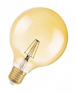 Osram LED Globe Lampe Vintage 1906 Dekorativ Glühbirne E27 Leuchtmittel 2, 8W warmweiß