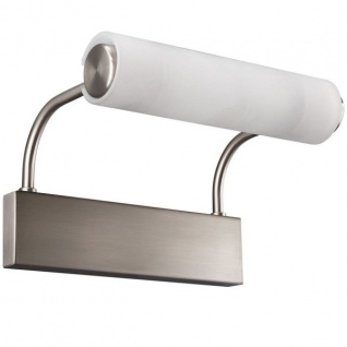 Badezimmerleuchte Halogen Glas Stahl gebürstet IP21