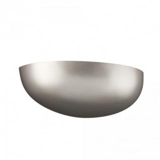 Energiespar Wandleuchte Silber matt Metall inkl. Leuchtmittel