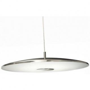 Pendelleuchte Rund Glas Stahl gebürstet Hängeleuchte Energiesparleuchte Save 3