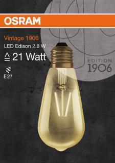 Osram LED Lampe Vintage 1906 Dekorativ Glühbirne E27 Leuchtmittel 2, 8W