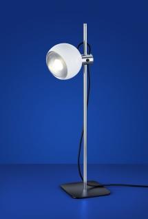 Tischleuchte LED 5, 1W Schwarz Weiß 450lm Glas Höhe 49cm Schalter Retro Ø10cm