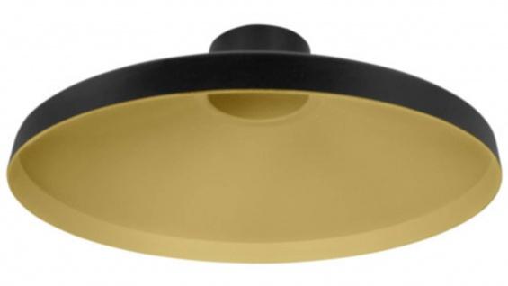 Osram Vintage 1906 Radar Schwarz Gold Lampenschirm Ø 32cm Alu
