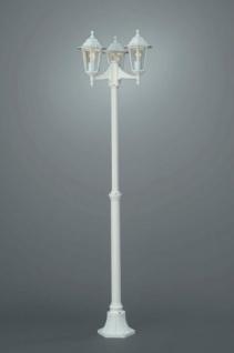 Kandelaber 3-flg. Peking Außenleuchte Standleuchte Stehleuchte Weiss 185cm