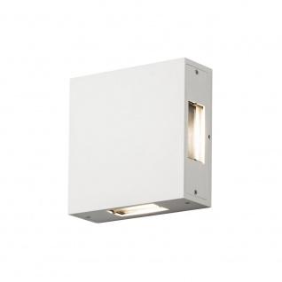 Konstsmide LED Wandaussenleuchte Weiss IP54 4 Flammig Aluminium Eckig