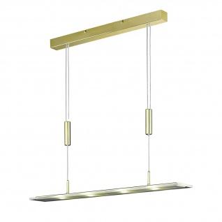 Honsel LED Pendelleuchte Lapis Höhenverstellbar Messing Hängeleuchte Design