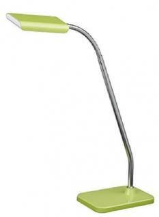 Schreibtischleuchte Pala LED Verstellbar Grün Chrom Bürotischleuchte Schalter